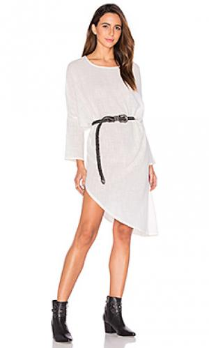 Платье solid ground ZULU & ZEPHYR. Цвет: белый