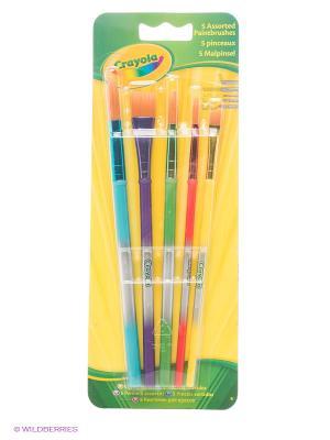 Набор кисточек для красок Crayola. Цвет: желтый