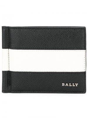 Бумажник дизайна колор-блок Bally. Цвет: чёрный