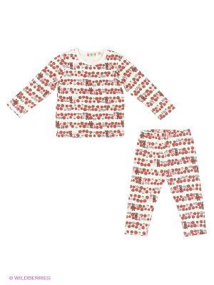 Пижама Kidly. Цвет: красный, белый