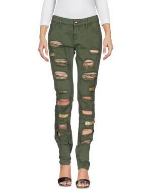 Джинсовые брюки JO NO FUI. Цвет: зеленый