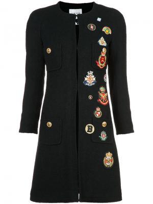 Пальто с нашивками Edward Achour Paris. Цвет: чёрный