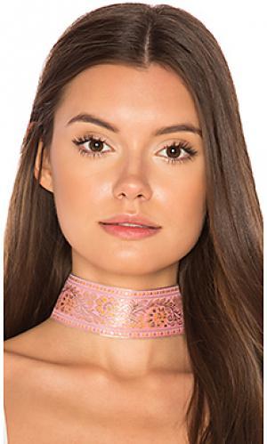 Чокер marari Natalie B Jewelry. Цвет: розовый