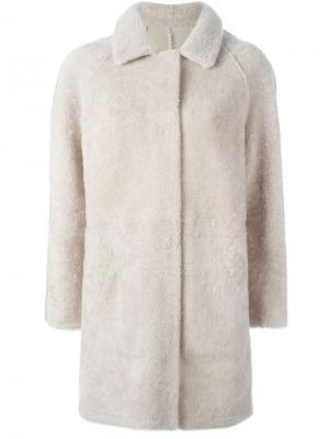 Однобортное пальто Sprung Frères. Цвет: телесный