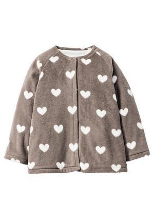 Флисовая куртка. Цвет: серый меланжевый/цвет белой шерсти