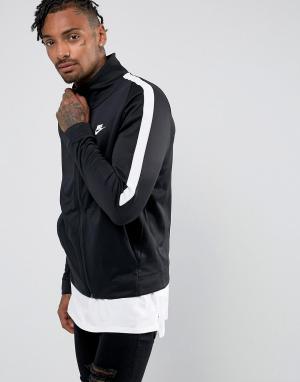 Nike Черная спортивная куртка Tribute 861648-010. Цвет: черный