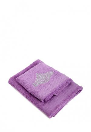 Комплект полотенец 2 шт. La Pastel. Цвет: фуксия