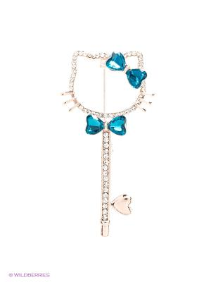 Брошь Royal Diamond. Цвет: голубой
