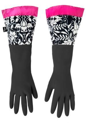 Перчатки для уборки ROCOCCO PINK VIGAR. Цвет: розовый (розовый, черный, белый)