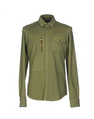 Джинсовая рубашка VERSUS. Цвет: светло-зеленый