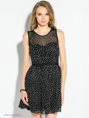 Платье GUESS. Цвет: черный, белый
