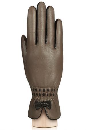 Перчатки Labbra. Цвет: серо-коричневый, коричневый