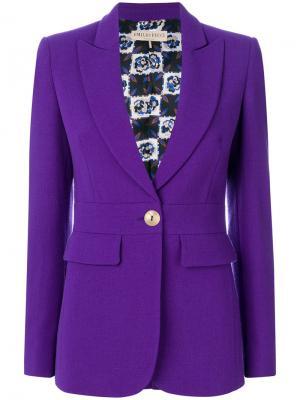 Удлиненный пиджак Emilio Pucci. Цвет: розовый и фиолетовый
