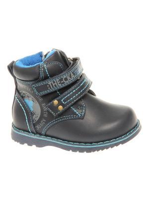 Ботинки Сказка. Цвет: синий, голубой