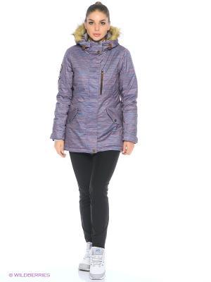 Куртка Stayer. Цвет: фиолетовый, коричневый, голубой