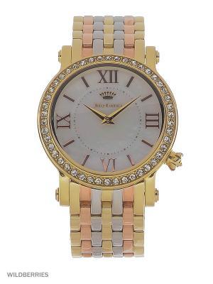 Часы Juicy Couture. Цвет: серебристый, золотистый