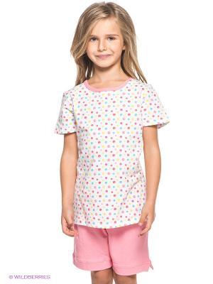 Пижама S`Cool. Цвет: розовый, белый, салатовый