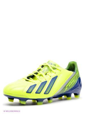 Бутсы Adidas. Цвет: салатовый, темно-синий