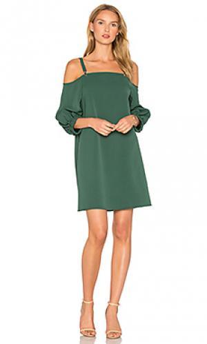 Платье на подтяжках Tibi. Цвет: зеленый