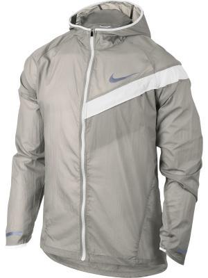 Ветровка M NK IMP LT JKT HD Nike. Цвет: серый, белый