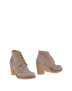 Полусапоги и высокие ботинки GIONATA. Цвет: голубиный серый