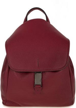 Бордовый кожаный рюкзак с откидным клапаном Gianni Chiarini. Цвет: бордовый