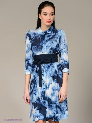 Платье Isabel de Pedro. Цвет: голубой, белый, синий