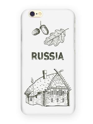 Чехол для IPhone 6 Русская изба Mitya Veselkov. Цвет: белый, красный