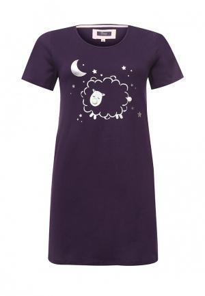 Сорочка ночная Evans. Цвет: фиолетовый