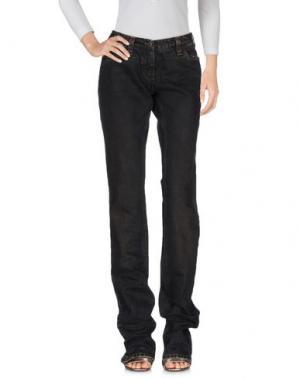 Джинсовые брюки SANTACROCE. Цвет: темно-коричневый