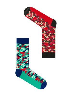 Набор Чужой против Хищника (2 пары в упаковке), дизайнерские носки SOXshop. Цвет: зеленый, темно-красный