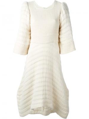 Фактурное платье Gabriel Isabel Marant. Цвет: телесный
