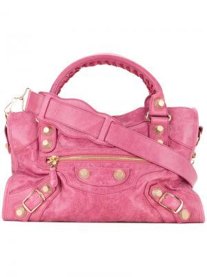 Сумка  Giant City Editors Balenciaga Vintage. Цвет: розовый и фиолетовый