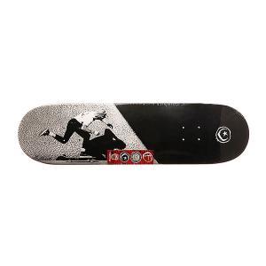 Дека для скейтборда  Jgb Push Black/Grey 31.75 x 8.25 (21 см) Foundation. Цвет: черный,серый,белый