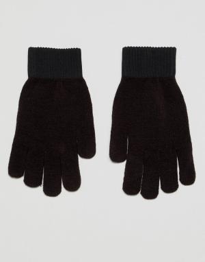 Weekday Перчатки. Цвет: черный