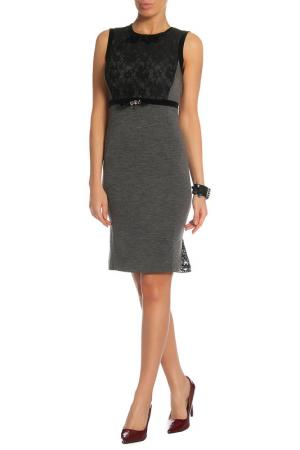 Платье VDP. Цвет: темно-серый