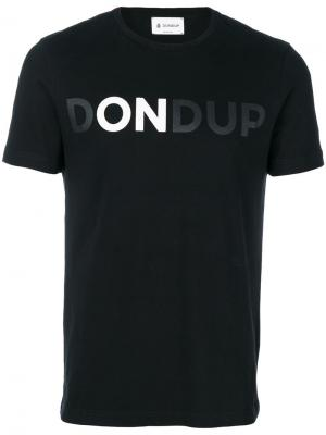 Printed logo T-shirt Dondup. Цвет: чёрный