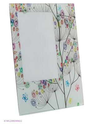 Фоторамка glitter flower VELD-CO. Цвет: белый, зеленый, голубой, желтый