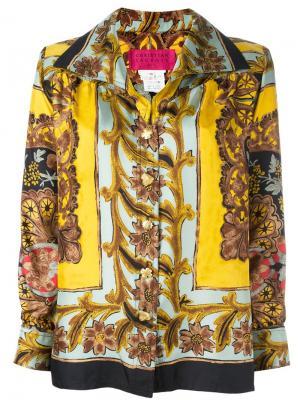 Блузка с принтом в стиле барокко Christian Lacroix Vintage. Цвет: многоцветный
