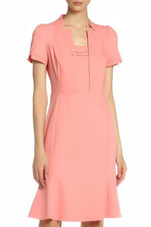 Платье с декором цепочки Vitacci. Цвет: розовый