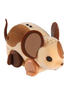 Интерактивная мышка Little Live Pets, бежево-коричневая Moose. Цвет: бежевый