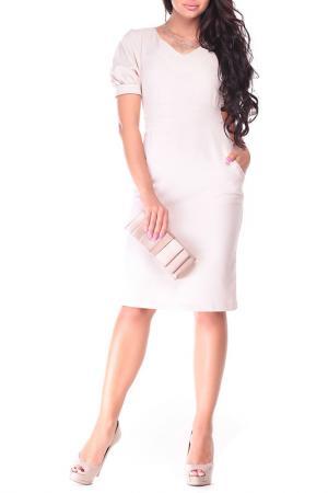 Платье Laura Bettini. Цвет: светло-бежевый