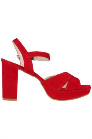 High heels sandals Sessa. Цвет: red