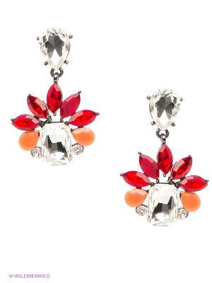 Серьги Kameo-bis. Цвет: красный, оранжевый, белый