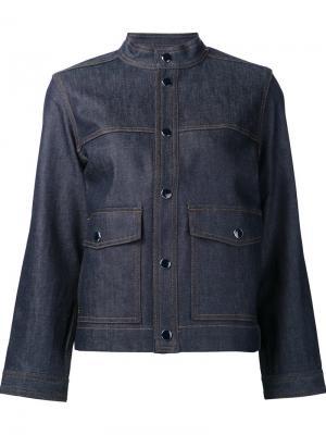 Укороченная джинсовая куртка Vanessa Seward. Цвет: синий