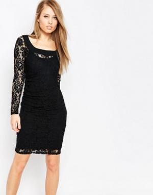 Body Frock Кружевное моделирующее платье Grace. Цвет: черный