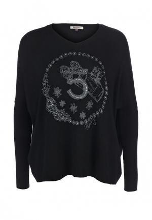 Пуловер Many Why. Цвет: черный