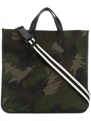 Сумка через плечо с камуфляжным пальмовым принтом Tomas Maier. Цвет: зелёный
