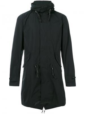 Пальто с капюшоном и шнурком на талии Closed. Цвет: чёрный