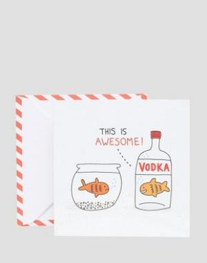 OHH DEER Открытка Vodka Goldfish. Цвет: мульти